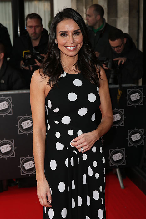 christine-lampard-black-dot-dress