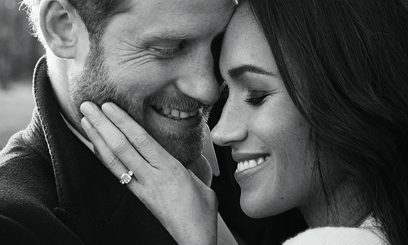 meghan-markle-eyebrows-engagement-photo