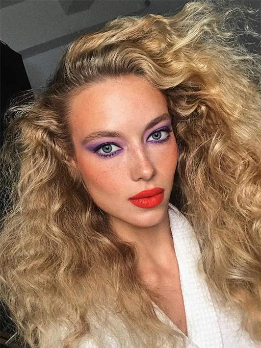 hannah-ferguson-purple-eyeshadow