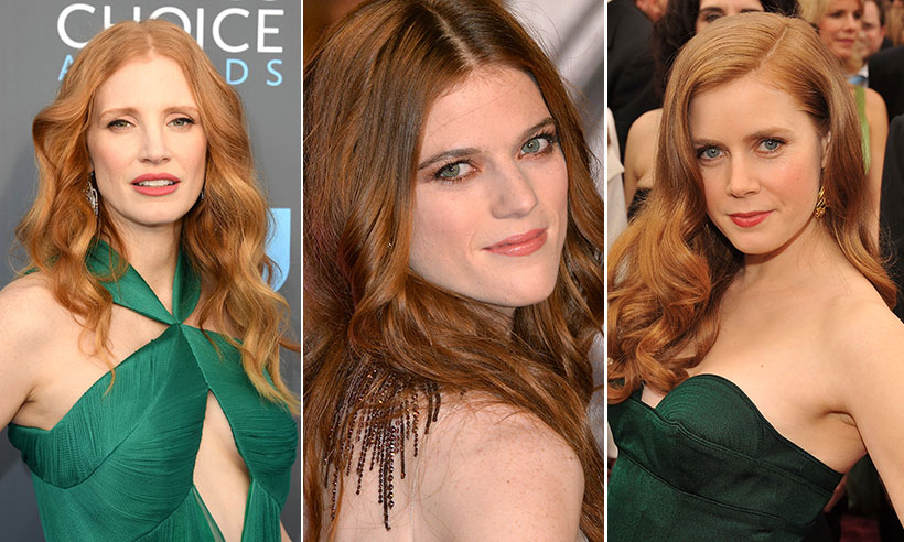 Rose Leslie, Amy Adams and Jessica Chastain