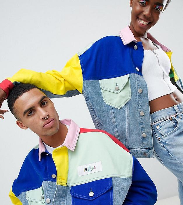 asos-Multi-Design-X-Glaad-Denim-Jacket-In-Color-Block