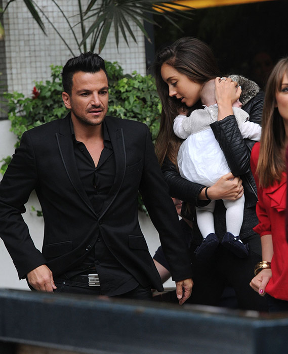 Emily MacDonagh and Amelia with Peter Andre