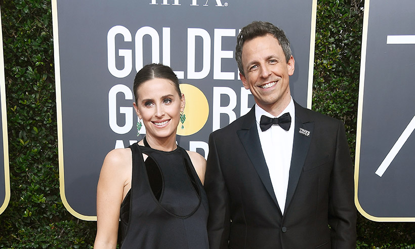 Seth Meyers and his wife Alexi