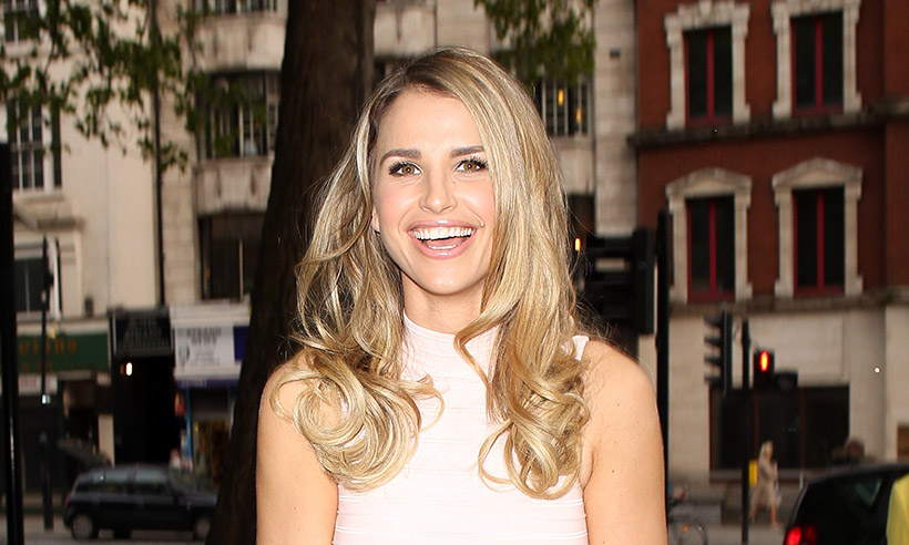 Vogue Williams laughing