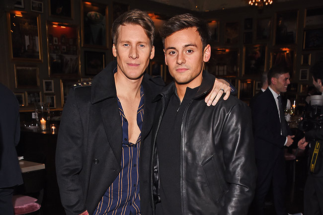 Tom Daley Dustin Lance Black LFWM