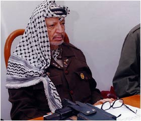 Israeli Prime Minister Ariel Sharon proposes exiling Yasser Arafat who remains beseiged by Israeli forces in his Ramallah headquarters