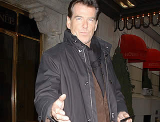 Pierce Brosnan out and about in New York