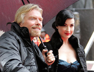 Dita helps Richard launch Virgin Media