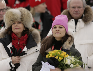 Swedish royals attend ski championships