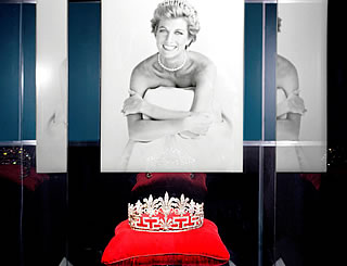 Princess Diana tiaras on display