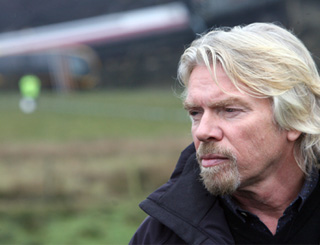 Richard Branson visits train crash site