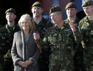 Charles and Camilla visit the troops in Bosnia