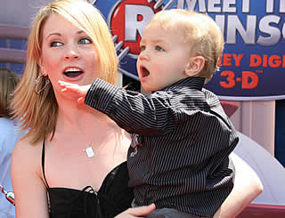Melissa Joan Hart takes son to Disney premiere