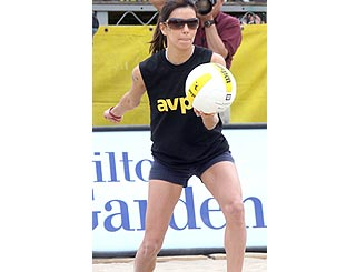 Eva Longoria hits the beach for charity