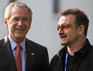 Bono meets the US President in Germany