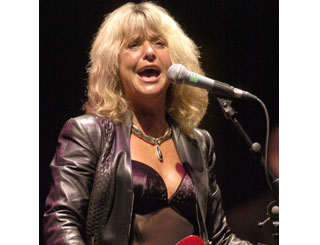 Suzi Quatro takes to the stage in Wales