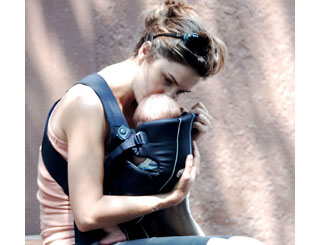 Keri Russell shares tender moment with baby River
