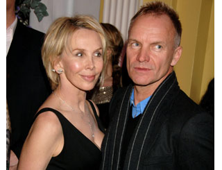 Sting and Trudie in conflict with chef