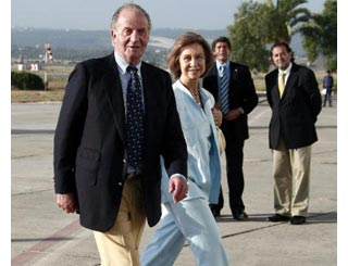 Spanish royals touch down in Majorca