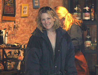 Julianne Moore filming in Uruguay