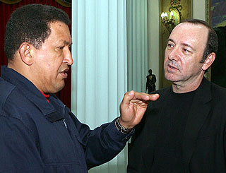Kevin Spacey meets with Venezuelan president