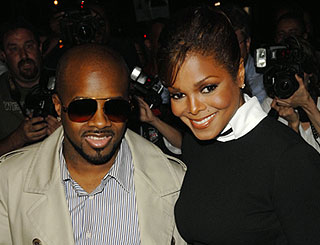 Janet Jackson and beau at NY screening