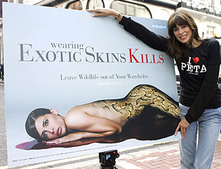 Lisa B unveils revealing animal rights ad