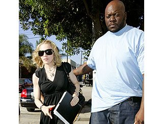 Madonna gets down to work in California