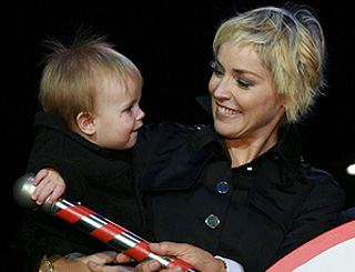 Sharon Stone and son light up Beverly Hills