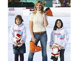 Penny Lancaster opens London's largest ice rink