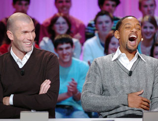 Will shares laughs with former footie ace Zidane