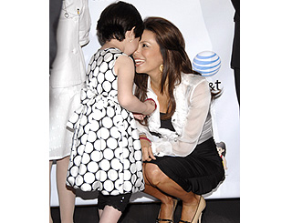 Eva Longoria meets young fan at charity bash