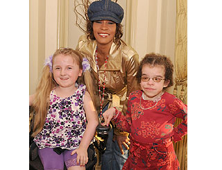 Whitney Houston meets special kids in London