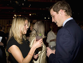 Wills reunited with uni pal at fundraiser