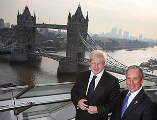 Mayor Boris Johnson turns tourist officer for the day