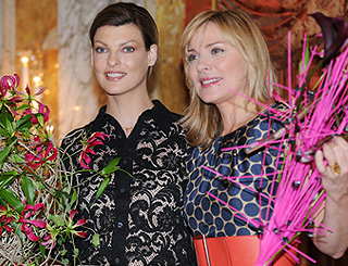 Linda Evangelista and Kim Cattrall have a ball in Austria