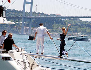 Kylie takes in Istanbul sights ahead of gig