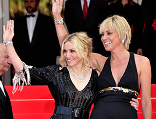 Blonde bombshells Madonna and Sharon wow Cannes