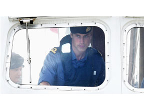 William begins training with the Royal Navy
