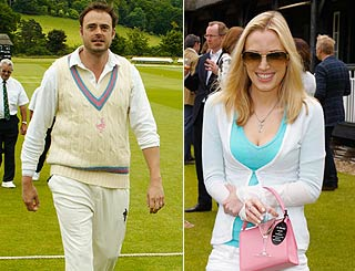 Stars attend John Paul Getty cricket game