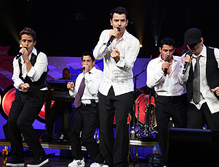 New Kids set their sights on recording with Madonna