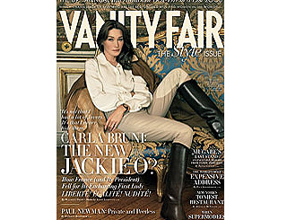 Carla Bruni features on cover of Vanity Fair