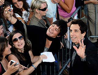 Ben Stiller is camera happy for his Spanish fans