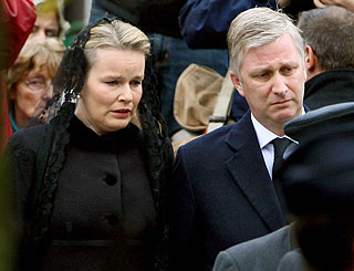 Princess Mathilde bids farewell to beloved father