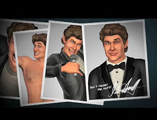 The Hoff gets hassled in new video game