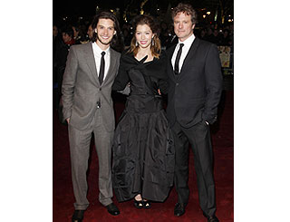 Jessica joins Brit hunks Ben and Colin at London Film Fest