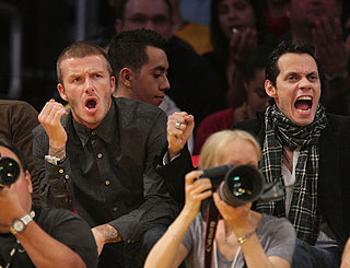 Boys night out for Becks and Marc at basketball
