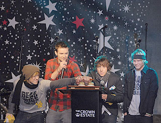 McFly light up London for Christmas