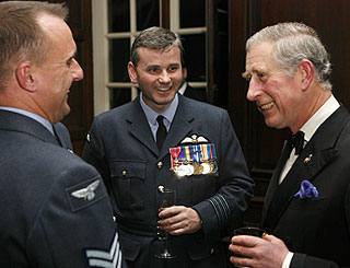 Charles meets brave heroes at military awards