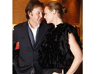 Macca on hand for Stella's Paris store opening